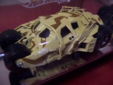 HOT WHEEL G7234 BATMOBILE CAMOUFLAGE TUMBLER BATMAN BEGINS SHOW CASE TUBE 1/18