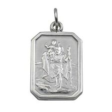 Sterling Silver St. Christopher Pendant Made To Order in Jewellery Quarter B'ham