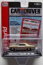 AUTO WORLD 1966 CHEVY CHEVELLE SS 396 #4 Gold PREMIUM ACRYLIC CASE 1:64 B