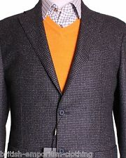 CORNELIANI Grey Dogtooth Sports Suit Jacket Coat Blazer UK46 US46 IT56 EU56 NEW