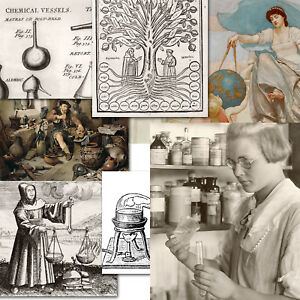 Alchemy Metallurgy Chemistry Science mostly old art and photos images lot on CDs