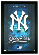 "New York Yankees, NY 22""x34"" MLB Baseball Team Logo Framed Poster (F4-1001)"