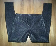 MOTHER pleather faux leather geo skinny ankle Size 29x30 LkNew rare sample pants