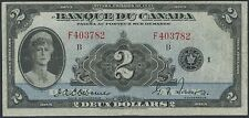 CANADA BC-4 $2.00 1932 FRENCH VERY HIGH END VF ORIGINAL NOTE WL8161