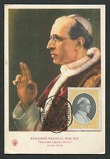 ARGENTINA MK 1959 PAPST PIUS XII POPE PAPA PIO CARTE MAXIMUM CARD MC CM c8976