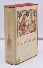 FIABE ITALIANE a cura Italo Calvino I Millenni Einaudi 1956 Cofanetto Illustrato