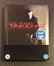 TAKEN 2 Blu-Ray SteelBook UK Region ABC. Extended Alternate Ending Sold Out Rare