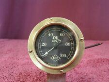 """A.R.I.C. 0-100 PSI Oil Pressure Gauge - 1920s-30s - 2 3/8"""" (61mm)"""