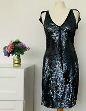 KATE MOSS TOPSHOP Dress Size UK 6 BLACK | Sequin Cap Sleeve Smart Occasion Party
