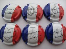 Série de 6 New. capsules de champagne générique LES PATRIOTES 2ème