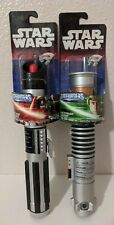 Star Wars Darth Vader+Luke Skywalker Lightsabers Red+Green Bladebuilders Hasbro
