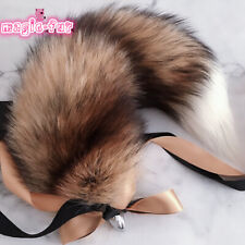 Brown Real Sun Fox Fur Tail Anal-Butt Plug Funny Toys Adult Games Cosplay Gift