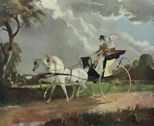 Country Drive DORIS ZINKEISEN Color Lithograph VINTAGE Equestrian #668