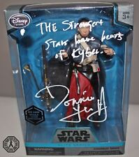 Donnie Yen signed auto Star Wars Rogue One Elite Series action figure with quote