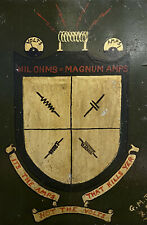 More details for ww2 hand painted crest from a steel panel - military folk art - novelty