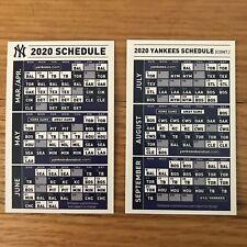 Ny Yankees 2020 Schedule.New York Yankees Sga 2020 Pocket Schedule Wallet Card