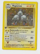 Pokemon Basis Edition Holo Karte/Card der ersten Generation: Magneton 1. EDITION