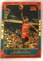 MICHAEL JORDAN FLEER 10TH ANNIVERSARY POLYCHROME REFRACTOR 23KT GOLD ROOKIE CARD