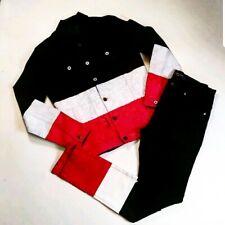 Vie riche MENS 100%AUTHENTIC SIZE medium 2p set jacket and pants Multicolor