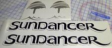 "Sea Ray Sundancer Decals 2  sets - Blue silver Drop shadow version 5"" x 22.5"""
