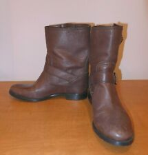 Prada Brown Motorcycle Buckle Boots