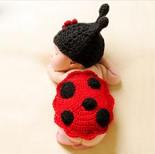 Ladybird Newborn Baby Girl Boy Crochet Knit Costume Photography Prop outfits
