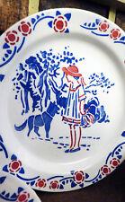 Jouets Et Jeux Bright Ancienne Dinette Faience Hbcm Creil Montereau Chaperon Rouge Loup Poupée