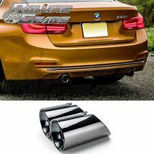 "3.5"" Dual Exhaust Muffler Tips For BMW 3er F30 F31 F34 335i 340i Glossy Black"