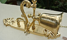 """heavy Front Door Bell pull chain solid POLISHED brass vintage old style 8.1/2 """"B"""