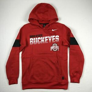Ohio State Buckeyes Nike Sweatshirt Men's Red Dri-Fit NEW Multiple Sizes