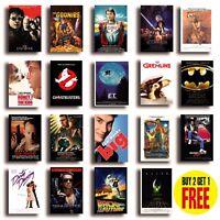 CLASSIC 80s MOVIE POSTERS A4/A3 Size Photo Print Film Cinema Wall Decor Fan Art