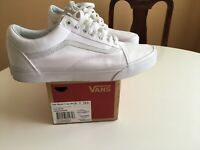 VANS Old Skool True White Canvas Classic Sneaker Men's Size 12.0