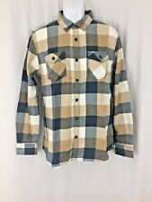 Men Vans long sleeve cotton plaid tan flannel Shirt tailored fit Size M New tag