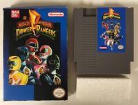 Mighty Morphin Power Rangers Original Nintendo NES CIB Complete in Box