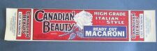 Wholesale Lot of 25 Old Vintage CANADIAN BEAUTY - MACARONI LABELS - Vancouver