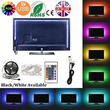 5V 5050 RGB LED STRIP LIGHT WATERPROOF USB IR REMOTE CONTROLLER TV PC BACK CAR