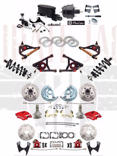 "1964-72 A Body Disc Brake Kit 2"" Drop RED Wilwood Caliper & A- Arms Coilovers"