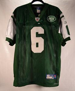 New York Jets Reebok Mens Size 48 Stitched Sanchez #6 NFLFootball Jersey Onfield