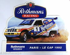 Aufkleber Rallye PARIS-LE CAP 1992 RALLI ART Mitsubishi PAJERO Sticker Rothmans