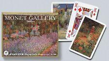 Monet Gardens Double Deck Bridge Size Playing Cards by Piatnik