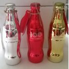 COCA COLA COKE SECOND EDITION RED GOLD SILVER 100TH ANNIVERSARY BOTTLES  ALL 3