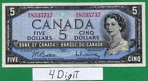 *** 4 Digit *** 1954 5 dollar  Five dollars  Beattie Rasminsky
