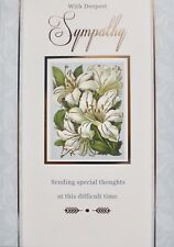 With deepest sympathy greetings card, flowers, Lilly's, suitable for anyone