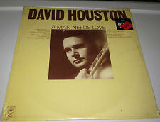 factory sealed DAVID HOUSTON.....A MAN NEEDS LOVE Classic Country  Lp