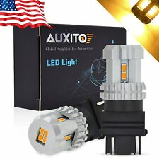 AUXITO 40W 3157 LED Front Turn Signal Parking DRL Amber Yellow 12K Light Bulb