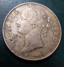 1840 BRITISH INDIA QUEEN VICTORIA ONE RUPEE SILVER COIN