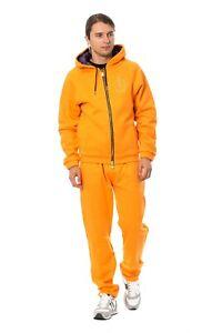 BILLIONAIRE COUTURE Tracksuit Orange Cotton Sweater Pants Set s. M RRP $1300