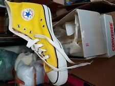 Vintage Converse Chuck Taylor High Top Made in Usa size 11 Yellow New Never worn