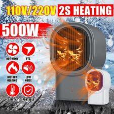 Super Quiet Desktop Winter Heater Electric Heat Fan Ceramic Handy Fast Warmer
