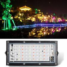 50W LED RGB Fluter Flutlicht Farbig Scheinwerfer Gartenstrahler Wasserdicht IP65